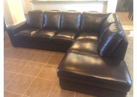 All Leather Sectional Couch